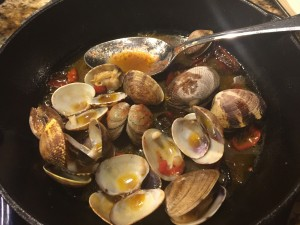 Happy clams in Brad's Redondo broth!
