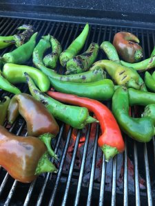 Fresh chile, about to be roasted.