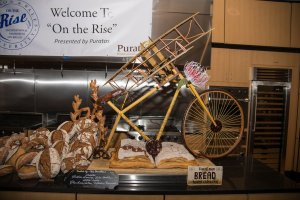 Harry Peemoeller's amazing bread sculpture; a tribute to the Wright Brother's from ideation to aviation.