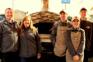 The Ferondan's family, proud FireWithin oven owners.