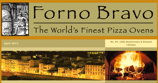 wood fired newsletter April 2013