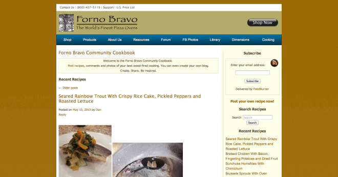 Forno Bravo Community Cookbook