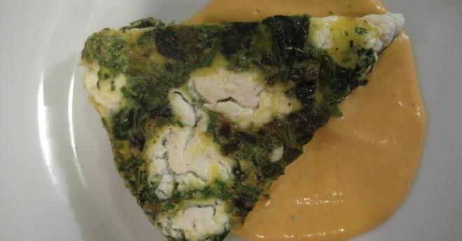 spinach scallion frittata