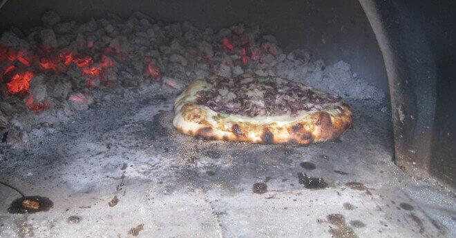 potato radicchio thyme pizza
