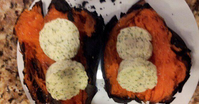 ash-roasted sweet potatoes