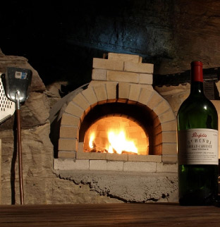 Pompeii brick pizza oven
