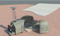 3D view of pizza oven