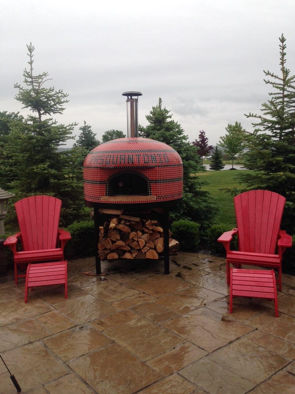 custom home pizza oven, wood fired pizza oven, vesuvio80 pizza oven, forno bravo