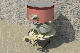 Knocked Down Pizza Oven Modena2G