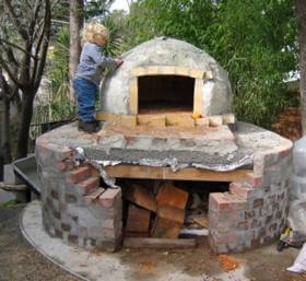 Simone 280 pizza oven for Mud brick kit homes
