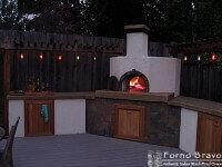 Artigiano Italian Brick Oven Stucco Exterior