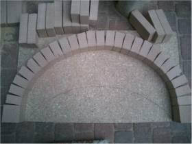 basic dome shape for pizza oven