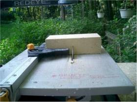 cutting firebrick