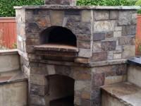 Premio modular pizza oven with stone veneer