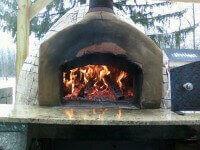 Pompeii DIY Brick Oven Fired Up