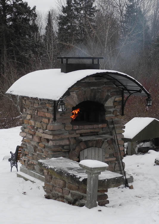 Outdoor Pizza Oven For Winter Forno Bravo Authentic Wood Fired Ovens