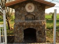 Premio Outdoor Pizza Oven with stone finish