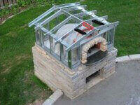outdoor pizza oven partial install