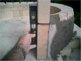 set and level door jam for pizza oven