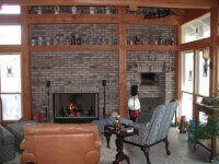 Casa Home Pizza Oven Indoors with Brick Facade St. Louis