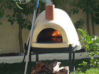 Assembled Forno Bravo Pizza Oven