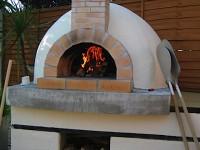 pizza oven stucco finish