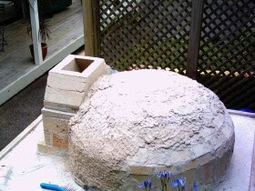vent in place for pizza oven