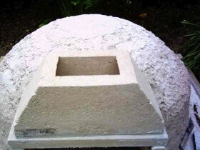 vent in place for brick pizza oven