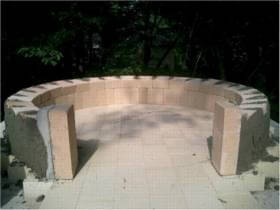 walls and first chain for pizza oven