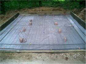 wire mesh and rebar reinforcing