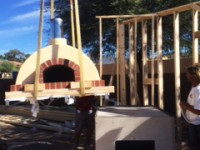 Toscana home pizza oven installation