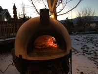 Primavera70 Wood Fired Pizza Oven in Winter - Minden NV