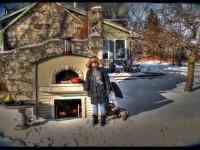 Premio Home Pizza Oven Winter Photo - Feversham Onatario Canada