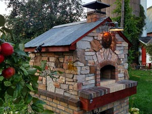custom outdoor stone pizza oven kit
