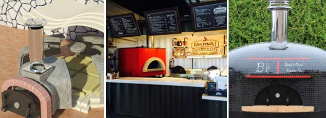 Forno Bravo commercial wood fired oven selection