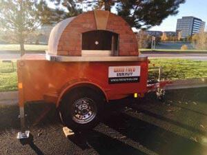 Pizza oven trailer