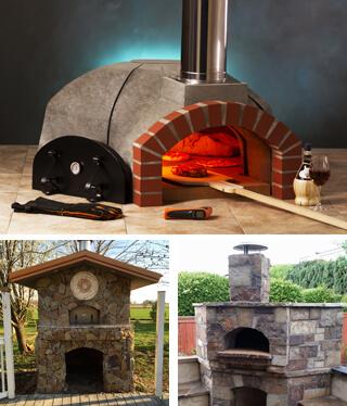 Residential Pizza Oven Kit Premio2G120 Premium 48