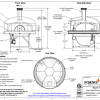 napoli140 commercial pizza oven with stand drawing