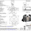 Premio100 home pizza oven kit gas or wood drawing
