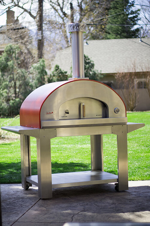 Ultra40 Portable Wood Fired Pizza Oven Cart Red