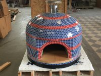 Napolino70 Outdoor Pizza Oven Blue and Red