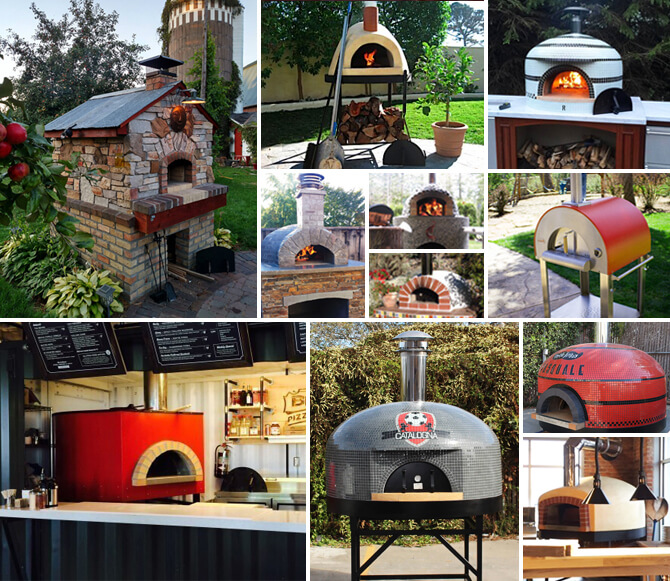Selection of Wood Fired Pizza Ovens
