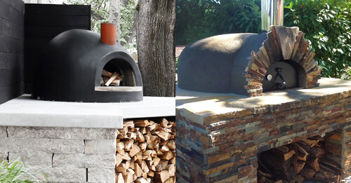 Two Forno Bravo Pizza Ovens Side by Side