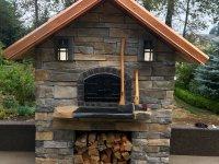 Casa110 Pizza Oven Build - Stone Exterior - Copper Roof - Axe