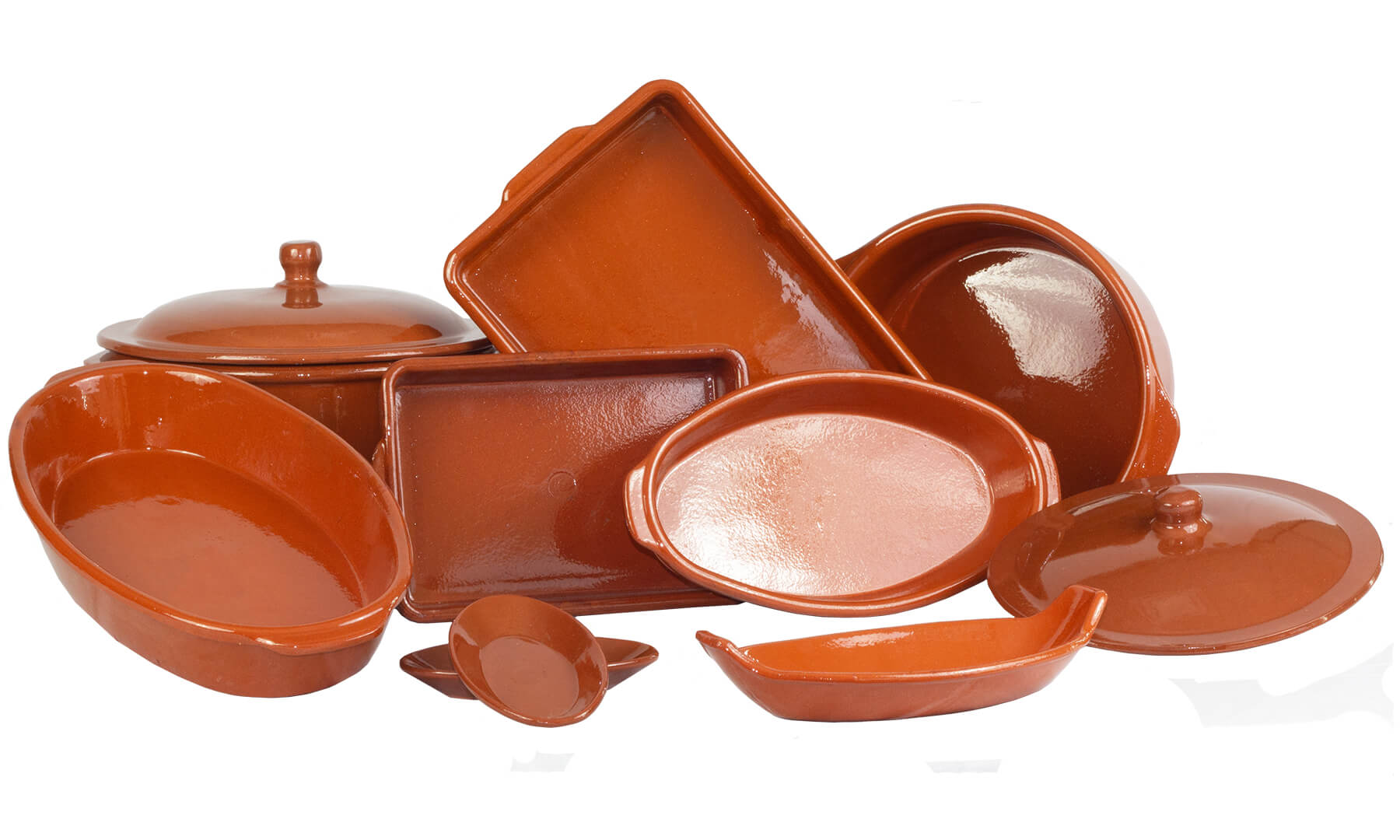 Group of Terracotta Bakeware Pieces
