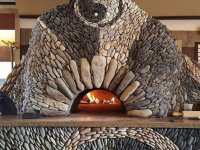 Casa Pizza Oven with intricate stone work