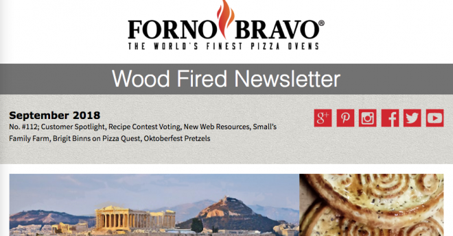Wood Fired Newsletter September 2018 with pictures