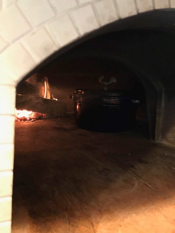 Dutch Oven in Pizza Oven