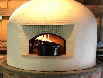 black Dutch Oven-white pizza oven