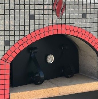 tiled pizza oven